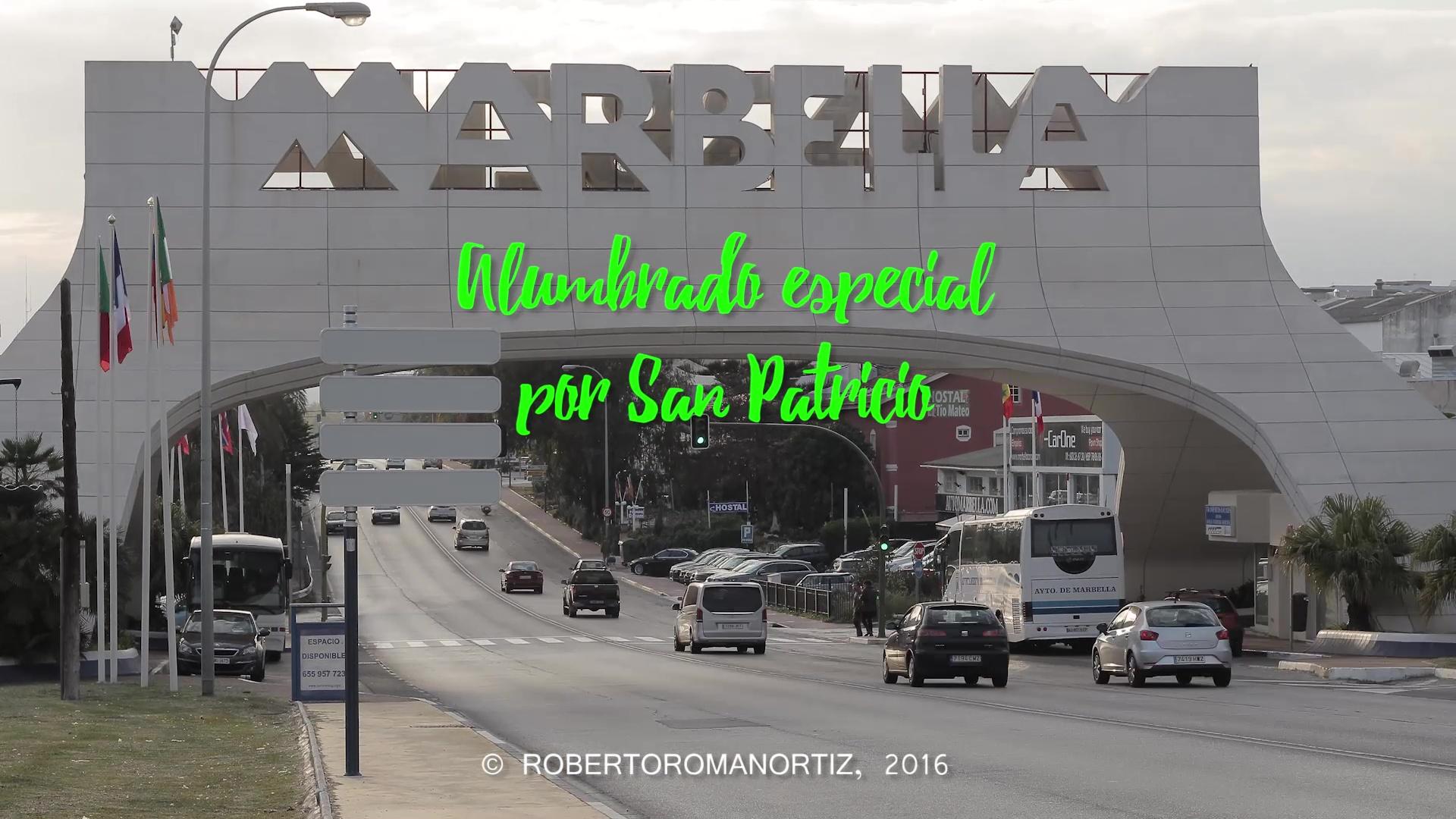 Alumbrado verde arco Marbella
