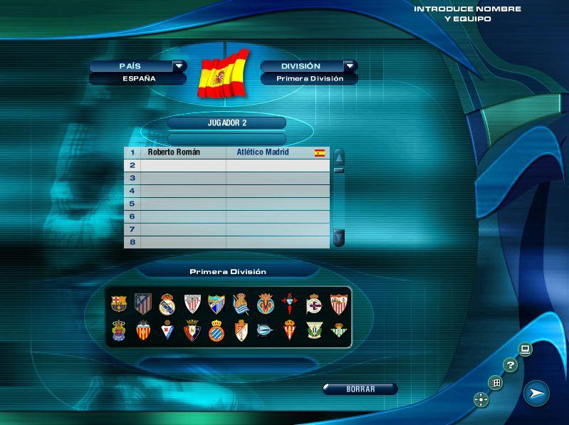 Imagen tutorial PC Futbol 2001 plantillas actualizadas 11