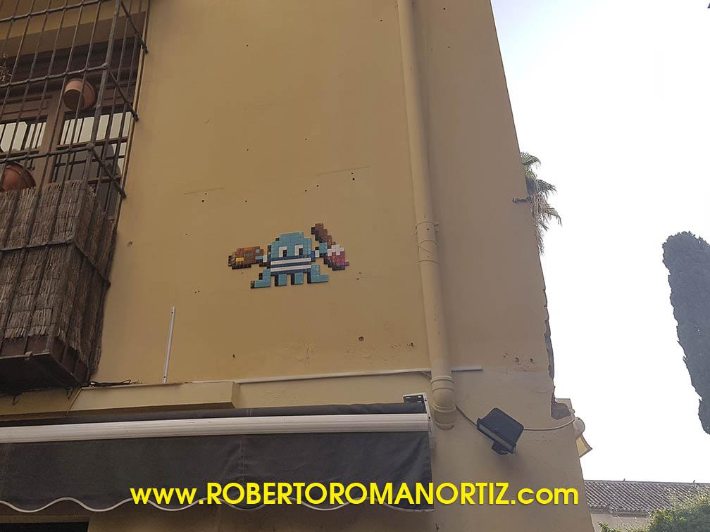 Foto de un Invader en Málaga