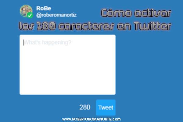 280 tweets caracteres