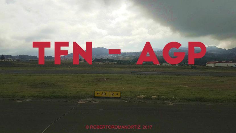 Time lapse del vuelo entre Tenerife y Málaga