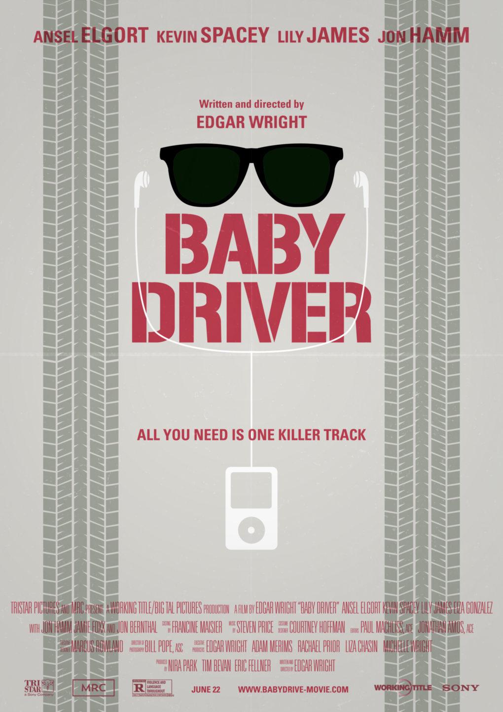 """Cartel minimalista de """"Baby Driver""""."""