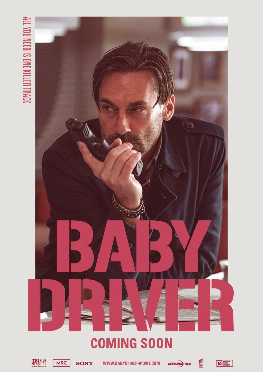 """Cartel alternativo de personaje de """"Baby Driver""""."""