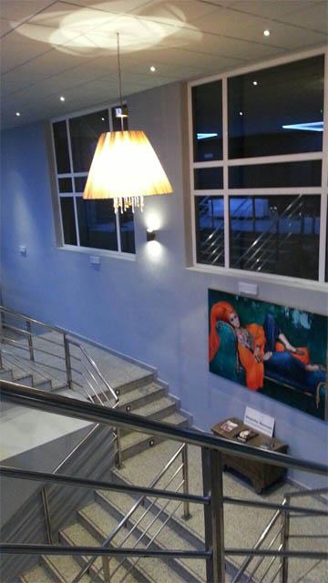 Escaleras de los cines Teatro Goya