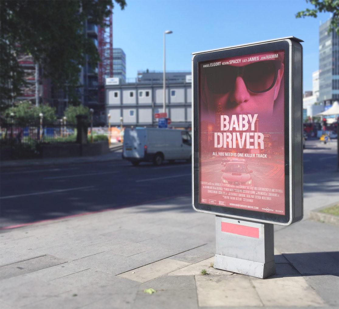"""Mockup cartel de """"Baby Driver""""."""